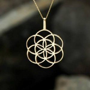 the seed of life gold necklace