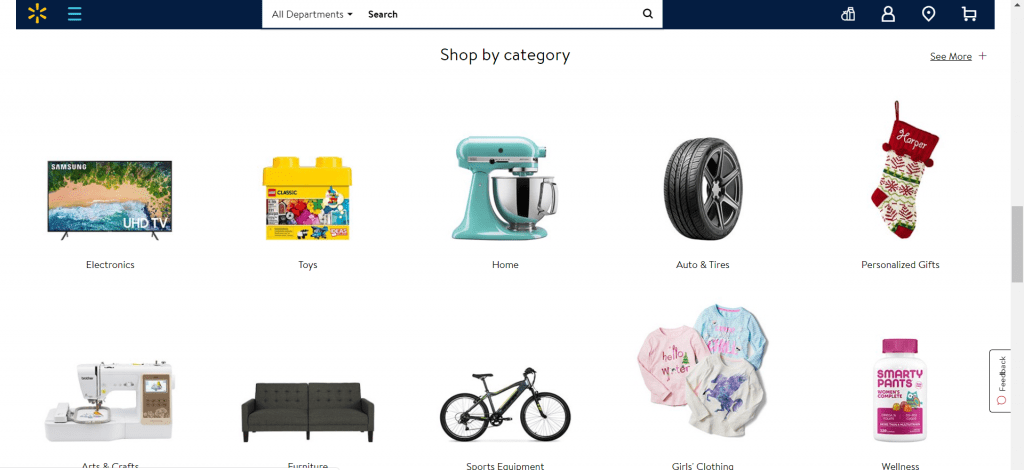 walmart shopping categories